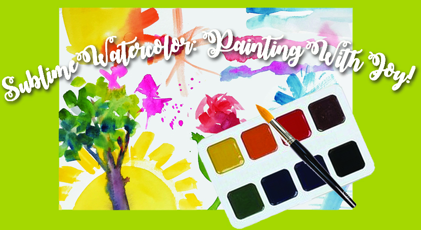 Sublime Watercolor Painting With Joy!