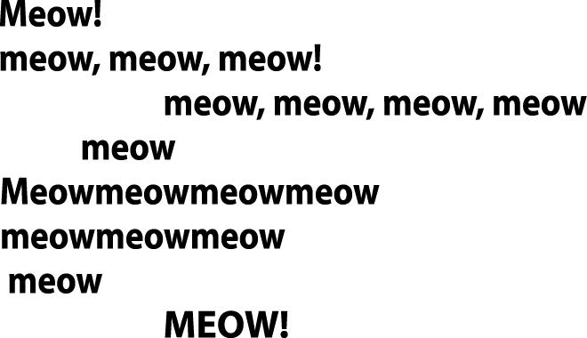 meow, meow, meow!